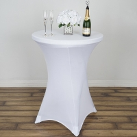 Spandex, Cocktail Table Cover White
