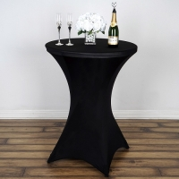 Spandex, Cocktail Table Cover Black
