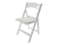Chair, Folding White Resin (Wedding Chair)