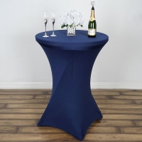 Spandex, Cocktail Table Cover Navy Blue