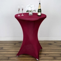 Spandex, Cocktail Table Cover Burgundy