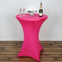 Spandex, Cocktail Table Cover Fushia