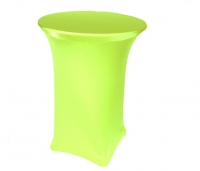 Spandex, Cocktail Table Cover Lime Green