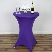 Spandex, Cocktail Table Cover Royal Purple
