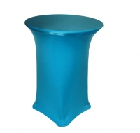 Spandex, Cocktail Table Cover Turquoise