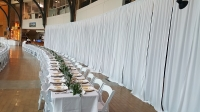 Event Draping & Set Up, Poly Premier White 12ft H