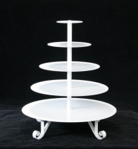 Cupcake Stand, White 5 tier