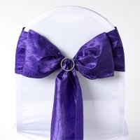 Sash, Taffeta Crinkle Royal Purple  6''x108''