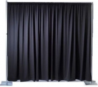 Event Draping, Black Poly Premier Incl. Hardware