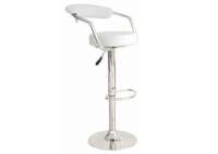 Bar Stool, White Leather
