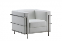 Lounge, White leather Club Chair