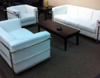 Lounge, Set white Leather