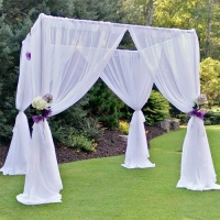 Event Draping, White Sheer Incl. Hardware