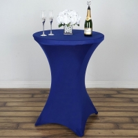 Spandex, Cocktail Table Cover Royal Blue