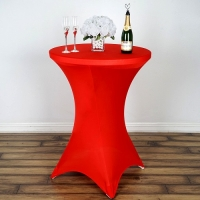 Spandex, Cocktail Table Cover Red