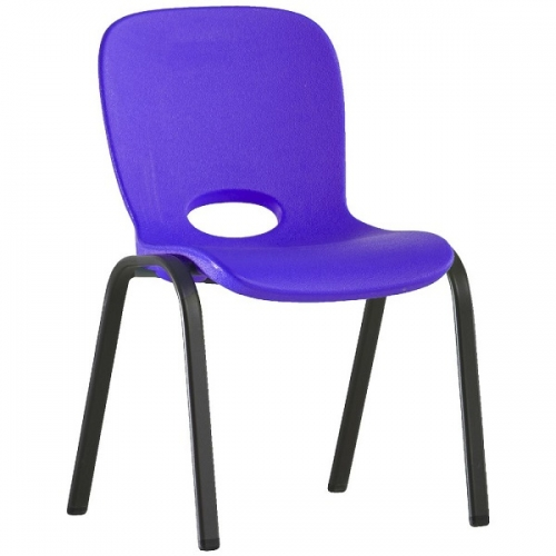 Chairs, Kids Stacking Chair Purple