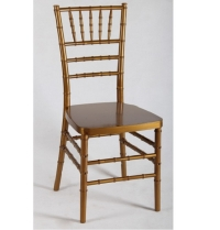 Chair, Chiavari Gold Resin With Cushion