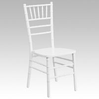 Chair, Chiavari White Resin  With Cushion