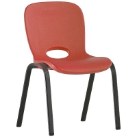 Chairs, Kids Stacking Red