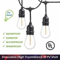 Light, Light String, LED 48ft (24 X 1W Warm light Bulbs)