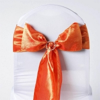 Sash, Taffeta Crinkle Orange  6''x108''