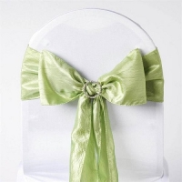 Sash, Taffeta Crinkle Apple Green  6''x108''