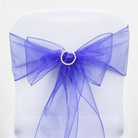 Sash, Organza Royal Blue 6''x108''
